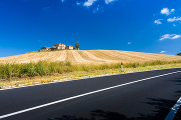 Hills and fields in Tuscany