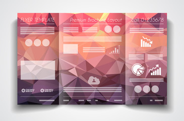 Vector tri fold brochure template design or flyer layout
