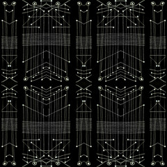Black and White Tribal Geometric Pattern