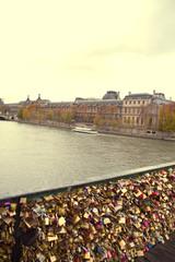 Locks on the bridge in Paris.