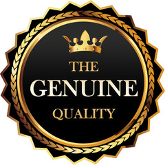 The Genuine quality gold badge