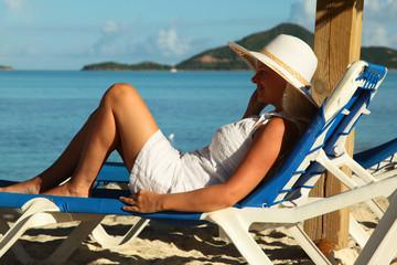 Enjoying on the blue sea