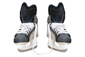 Man's hockey skates isolated on white background