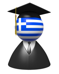 Greece college graduate concept for schools and education
