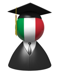 Italy college graduate concept for schools and education