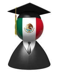 Mexico college graduate concept for schools and education