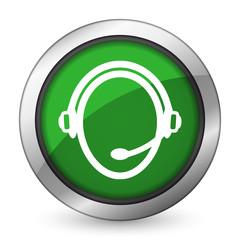 customer service green icon