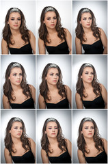 Hairstyle and make up - beautiful female art portrait