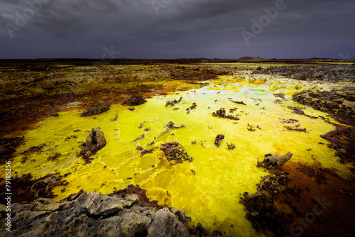 Foto op Canvas Vulkaan Les couleurs du Dallol