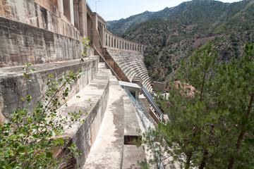 Olana dam on river El Segre, Catalonia, Spain