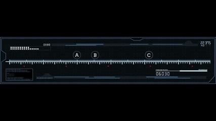 HUD grid bar loop alpha channel v.1