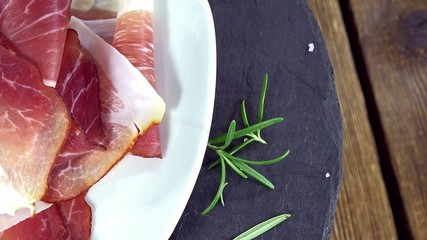 Portion of Sliced Ham (not loopable 4K UHD footage)