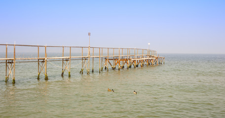 Footbridge on the sea