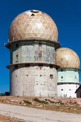 Old observatory in mountains Serra da Estrella. Portugal