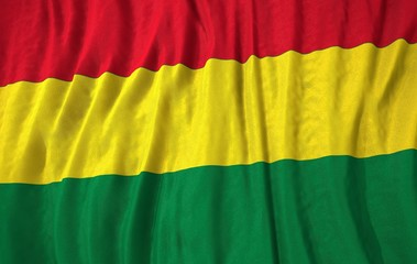 Bolivia corrugated flag 3d illustration