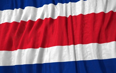 Costa Rica corrugated flag 3d illustration
