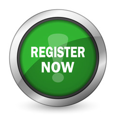 register now green icon