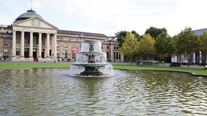 The famous Kurhaus and Bowling Green in Wiesbaden