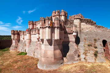 View of Coca Castle, province of Segovia, central Spain