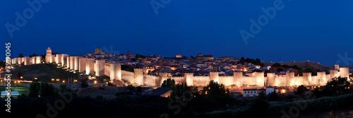 Fotobehang Vestingwerk view of historic city of Avila, Castilla y Leon, Spain