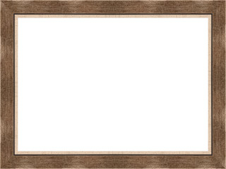 Wooden frame on white