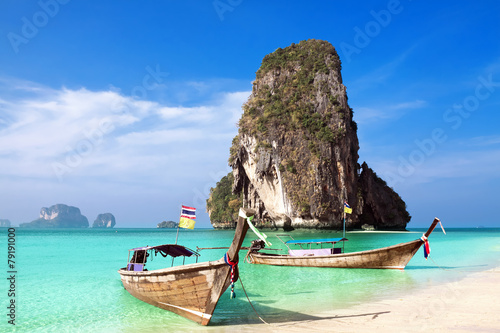 Plexiglas Asia land Railay beach, Krabi Thailand
