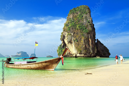 Deurstickers Overige Railay beach. Krabi, Thailand