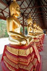 Buddha statues, province Kanchanaburi, Thailand
