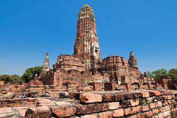 ruins of temple Phra Ram, Ayutthaya, Thailand