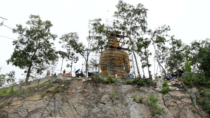 The construction of the Buddha in Temple, Thailand