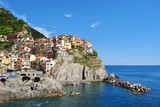 """Panoramic view of Manarola, one of the """"Cinque Terre"""""""