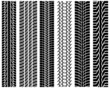Black prints of tread of cars, vector illustration - 79192486