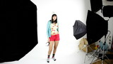 Behind the scene of videoclip fashion model dancing