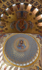 The painting on the dome of the Cathedral of the Sea Nikolsokgo