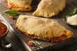Homemade Italian Meat and Cheese Calzones