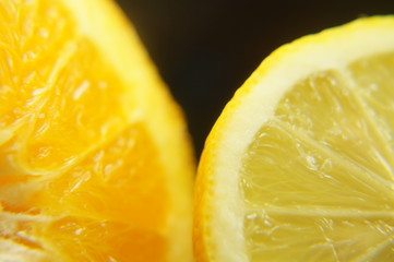 Orange und Zitrone