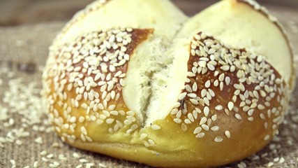 Pretzel Roll with Sesame (seamless loopable)