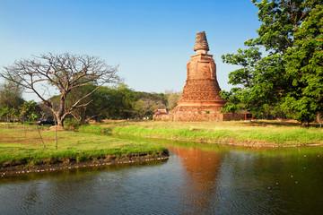 ruins of temple Chao Pram, Ayutthaya, Thailand