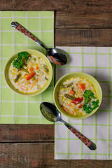 Vegetable soup with cheese