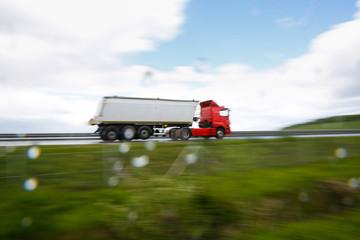 Heavy truck on highway
