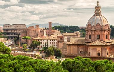 Roman Forum and Coliseum in Rome