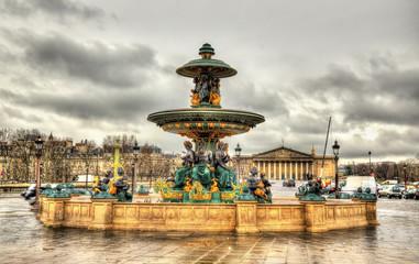 Fontaine des Mers on the Place de la Concorde in Paris