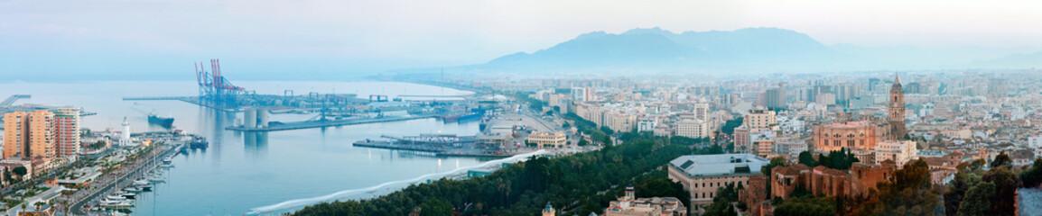 Panorama of Malaga, Spain