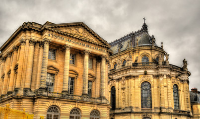 The Aile Gabriel and the Royal Chapel of the Palace of Versaille
