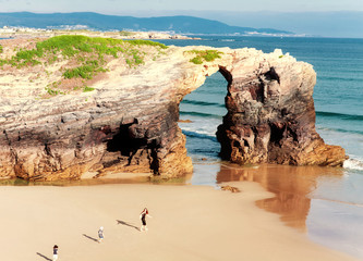 Beach of cathedrals, Galicia, Spain