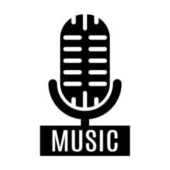 minimalistic microphone logo