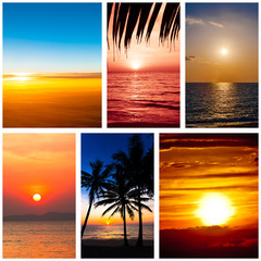 Collection of sunset  backgrounds