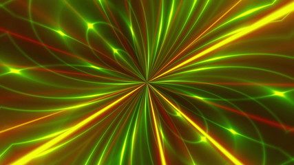 abstract loop motion background, multicolored light
