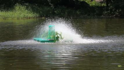Automatic rotating Aerator on water surface,Chaipattana