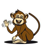 monkey funny sweet sweet wave